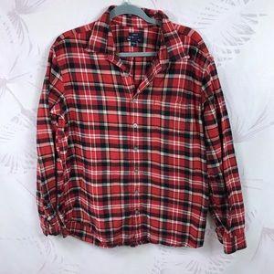 Gap Plaid Classic Fit Flannel Shirt Size XL